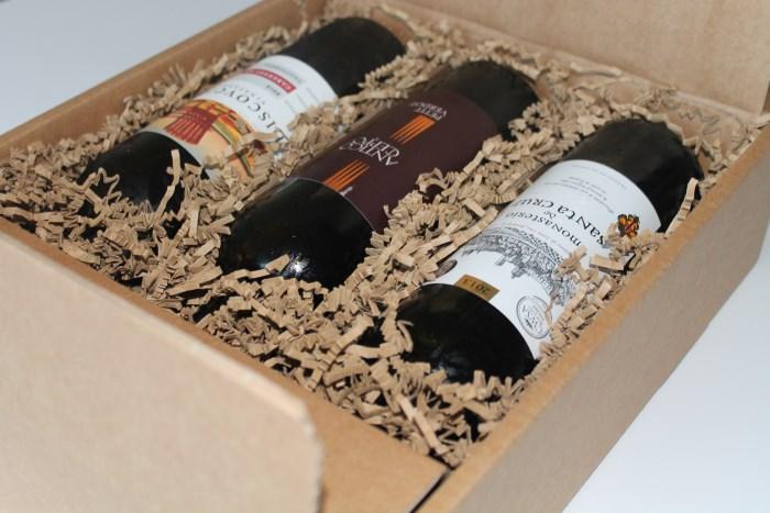 VINBOXEN med 3 stk vin