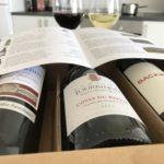 Vingave med 3 flasker vin + vinguide