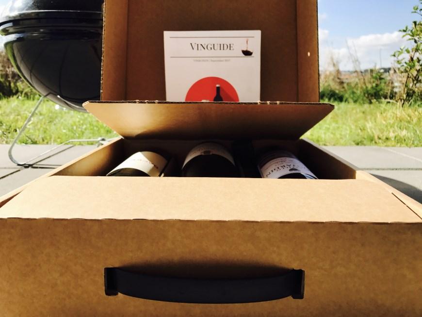 En box med blandet vin